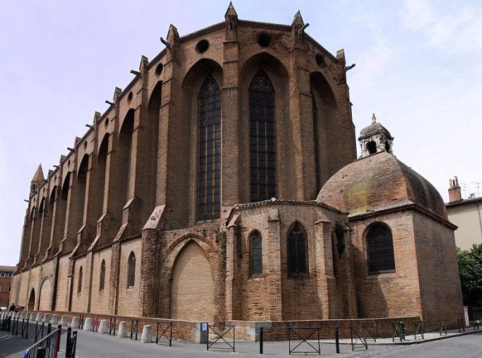 Церковь якобинцев в Тулузе.   Фото: en.wikipedia.org.