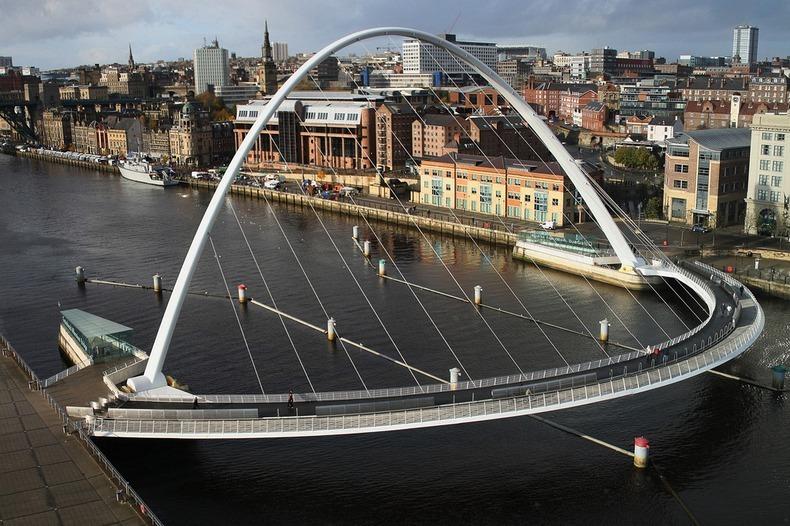 Мост Тысячелетия (Gateshead Millennium Bridge)