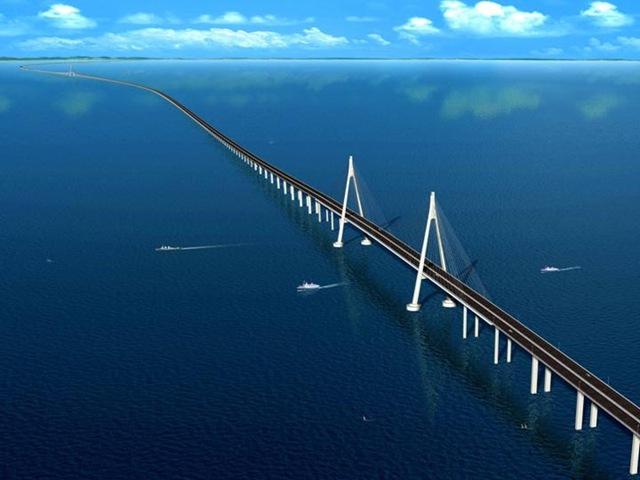 Мост через залив Ханчжоувань (Hangzhou Bay Bridge)