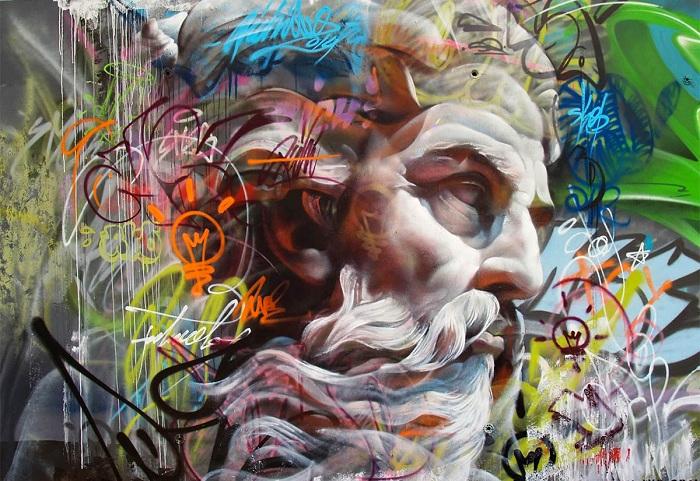 Оригинальное граффити от испанского дуэта