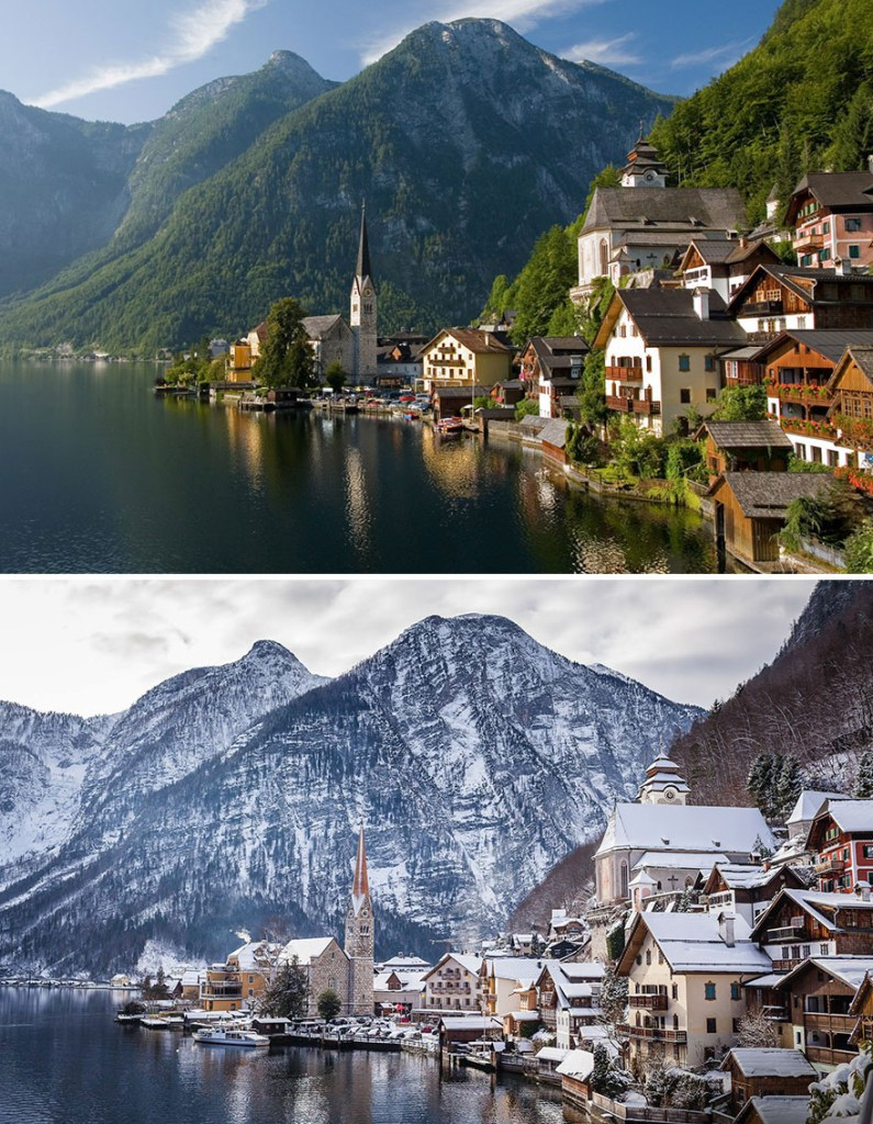 Деревня Гальштат, Австрия
