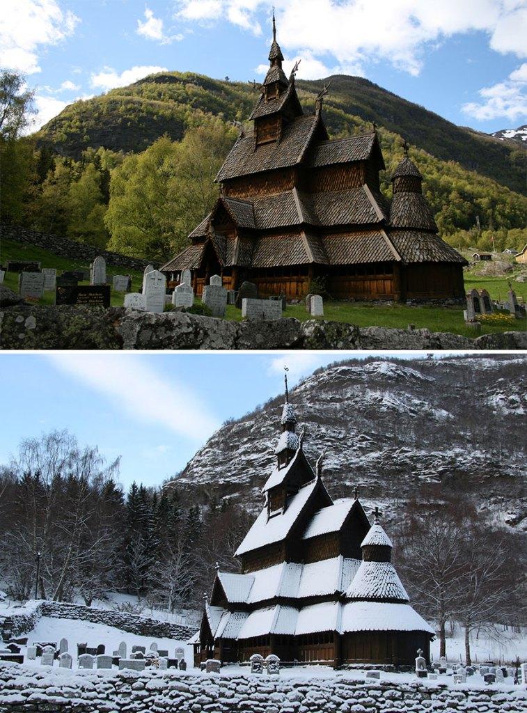 Деревянная церковь Боргунд, Лердал, Норвегия