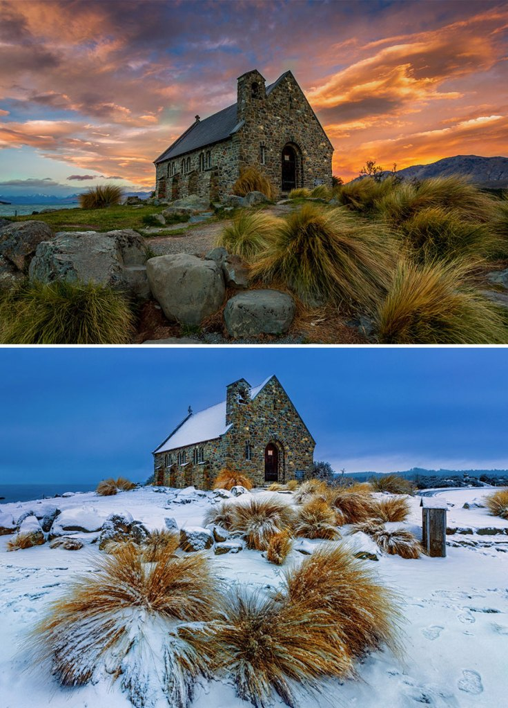 Церковь доброго пастыря, озеро Текапо, Новая Зеландия