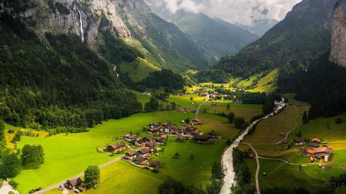 Деревня в Швейцарии.
