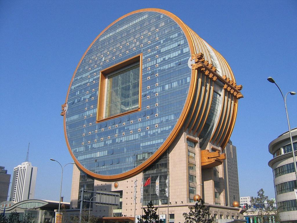 здание Fang Yuan (в переводе - квадратных круг) в городе Шэньян