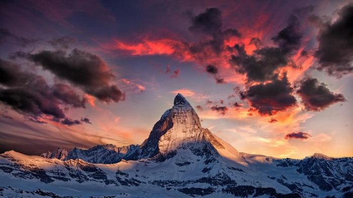 На закате дня. Швейцария.