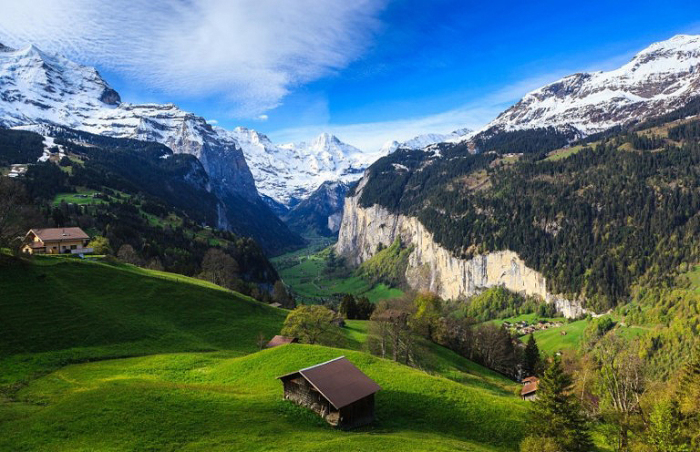 Небольшая деревушка в Швейцарии.