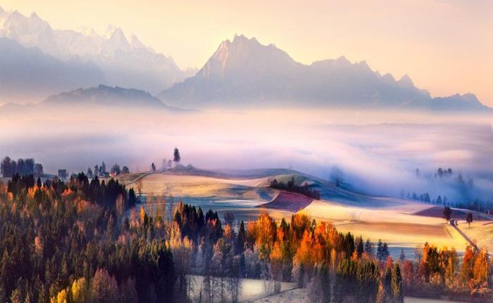 Яркие краски. Природа Швейцарии.