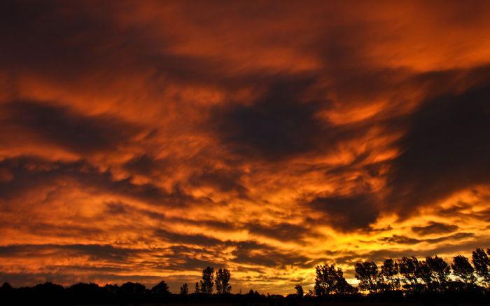 Ашбертон, Закат (Ashburton Sunset). Автор фото: Энтони Харрисон (Anthony Harrison).