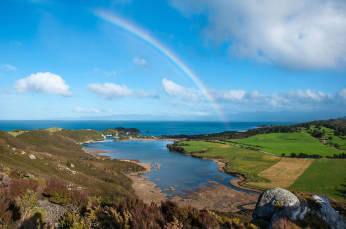 Пупонга, Радуга (Puponga Rainbow). Автор фото: Энтони Харрисон (Anthony Harrison).